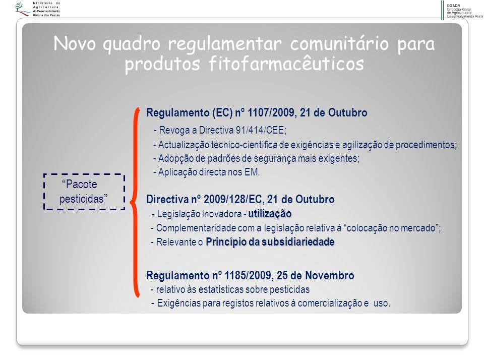 Novo quadro regulamentar comunitário para produtos fitofarmacêuticos