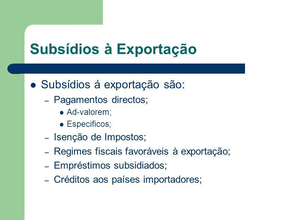 Subsídios à Exportação