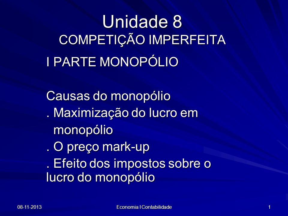Unidade 8 COMPETIÇÃO IMPERFEITA