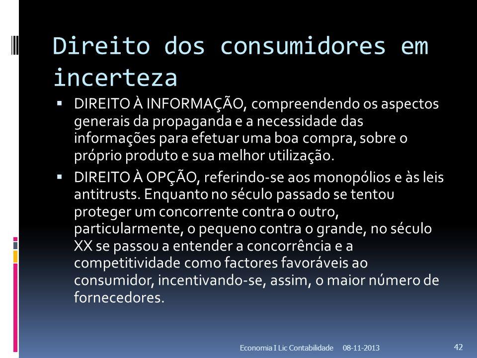 Direito dos consumidores em incerteza
