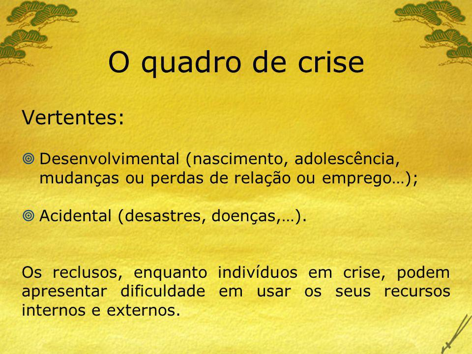 O quadro de crise Vertentes:
