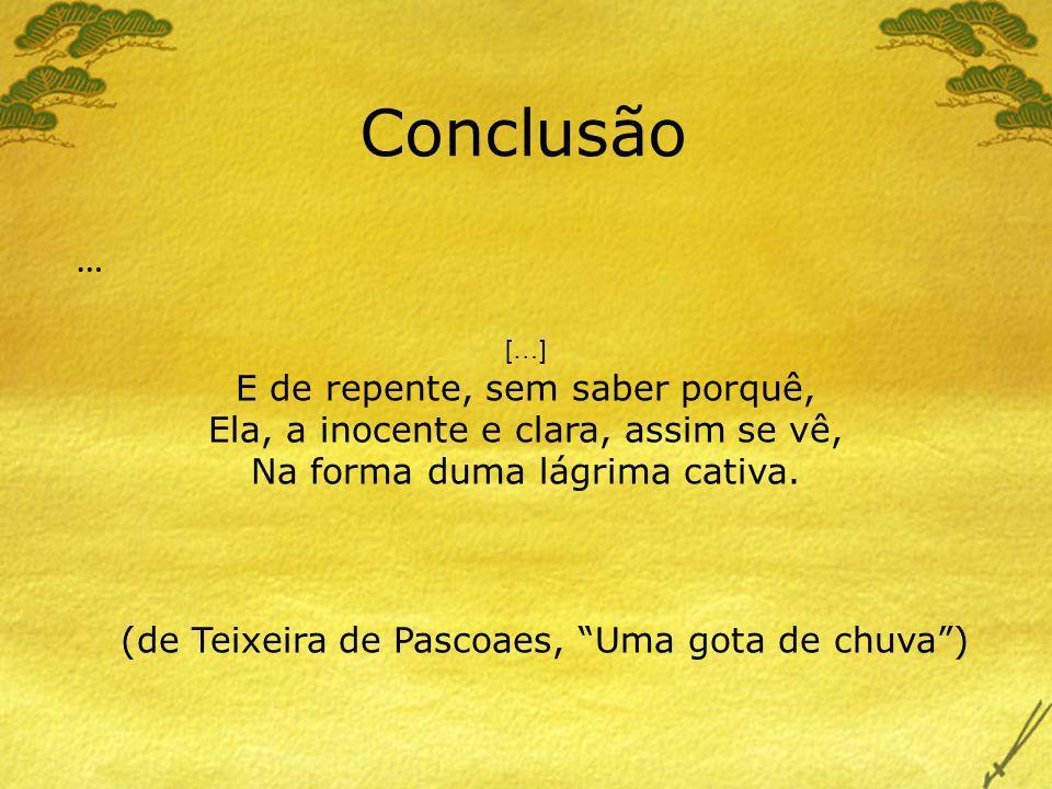 (de Teixeira de Pascoaes, Uma gota de chuva )