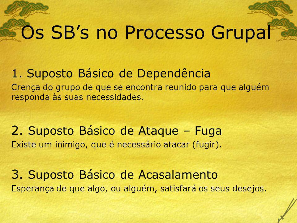 Os SB's no Processo Grupal