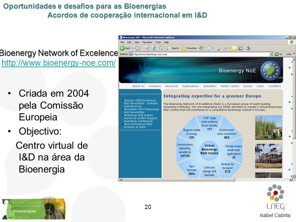 Bioenergy Network of Excelence http://www.bioenergy-noe.com/