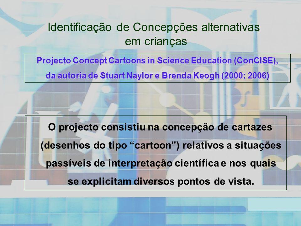 Identificação de Concepções alternativas em crianças