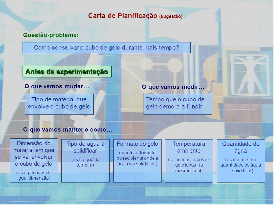 Carta de Planificação (sugestão)