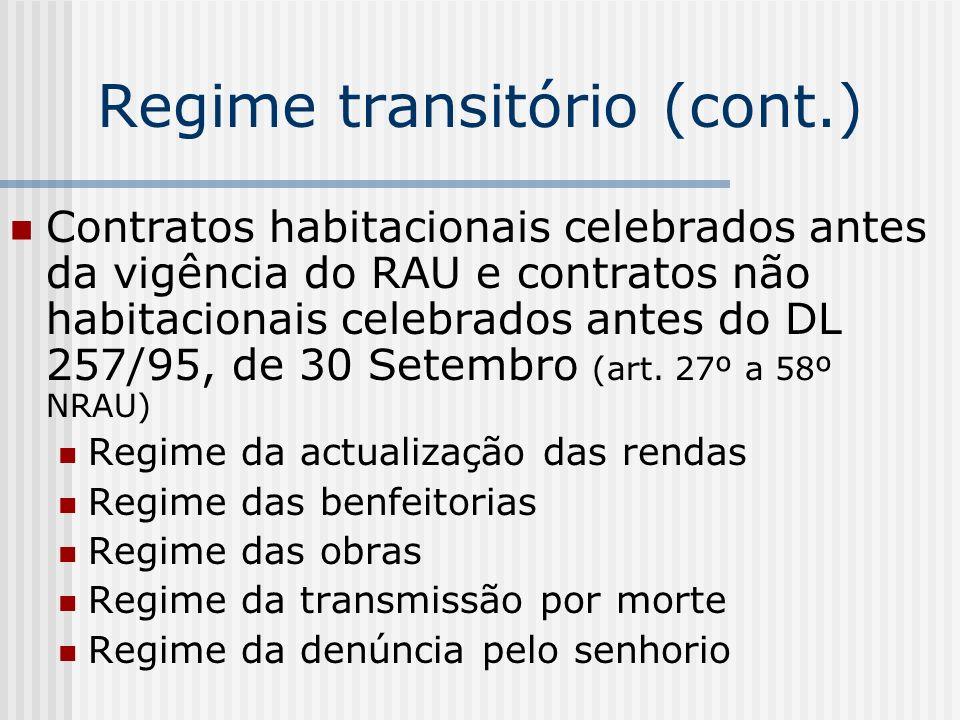 Regime transitório (cont.)