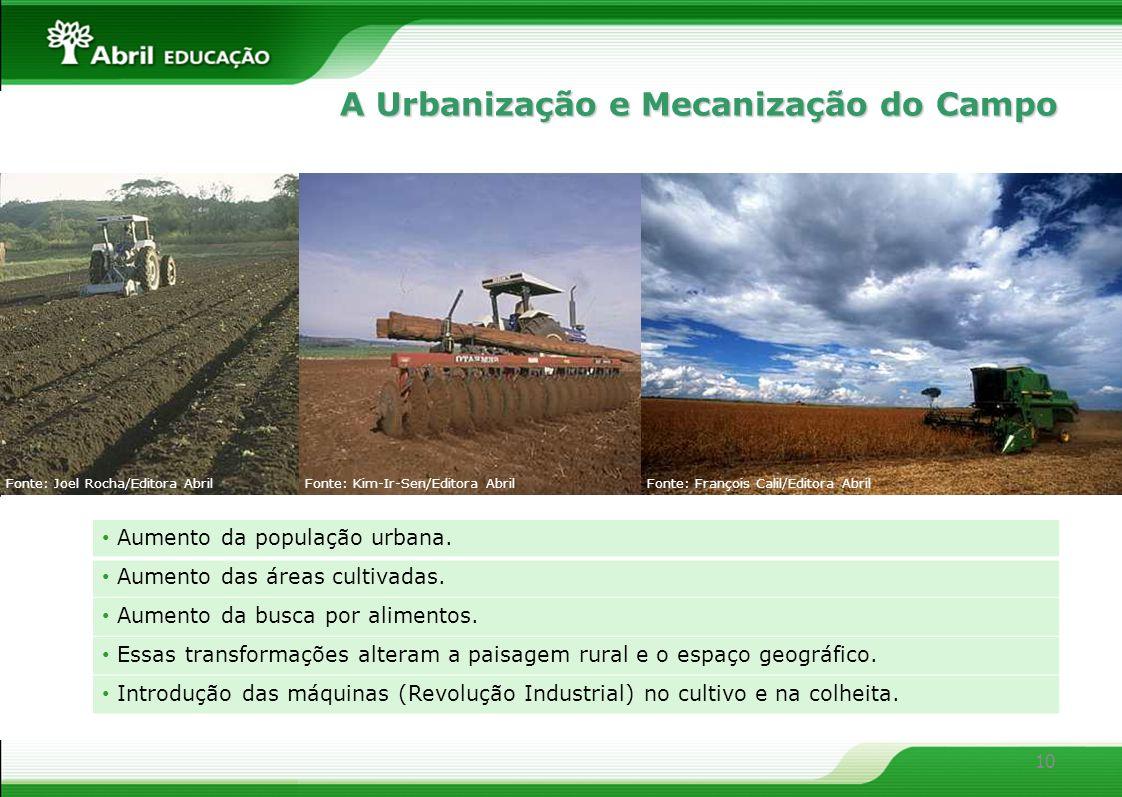 A Urbanização e Mecanização do Campo
