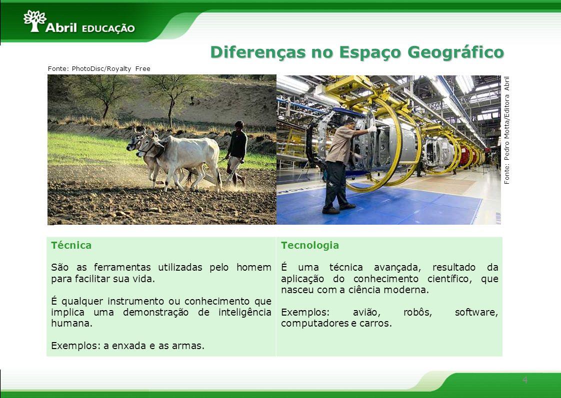 Diferenças no Espaço Geográfico