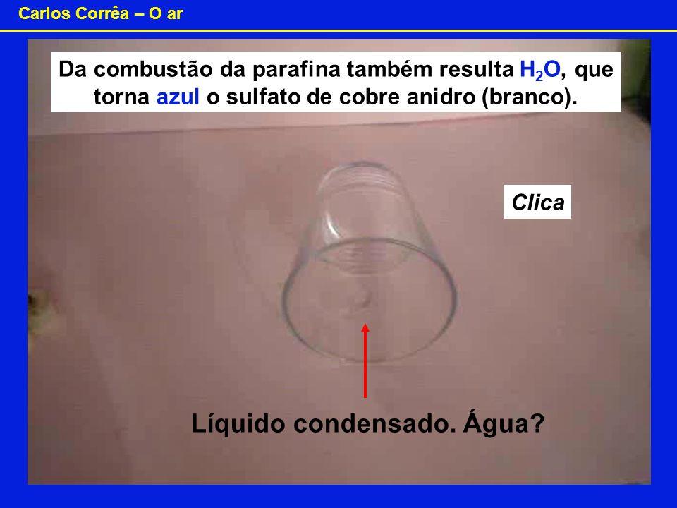 Líquido condensado. Água