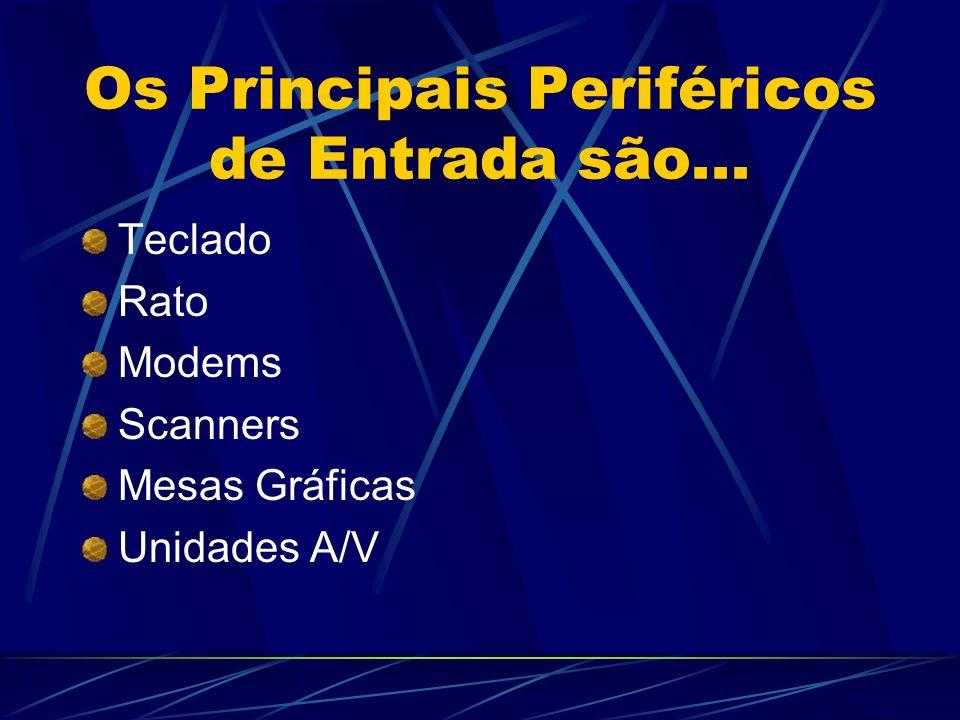 Os Principais Periféricos de Entrada são...