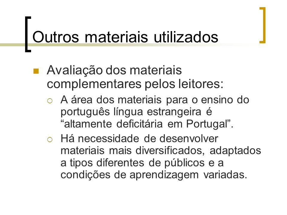 Outros materiais utilizados