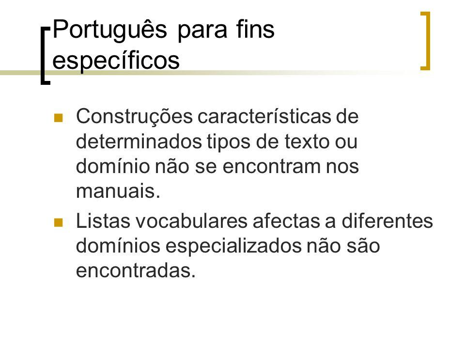 Português para fins específicos