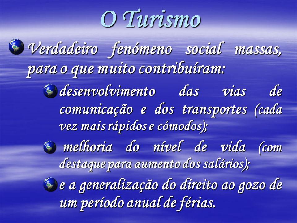 O Turismo Verdadeiro fenómeno social massas, para o que muito contribuíram: