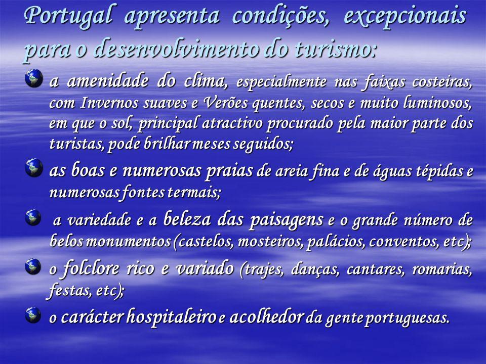 Portugal apresenta condições, excepcionais para o desenvolvimento do turismo: