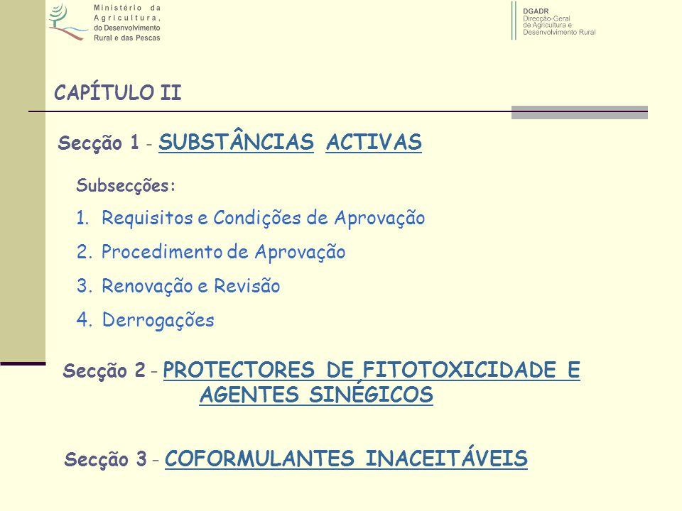 Secção 1 - SUBSTÂNCIAS ACTIVAS