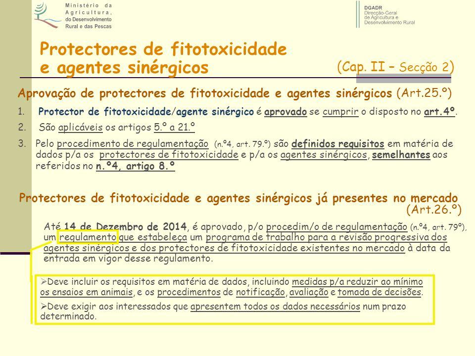 Protectores de fitotoxicidade e agentes sinérgicos