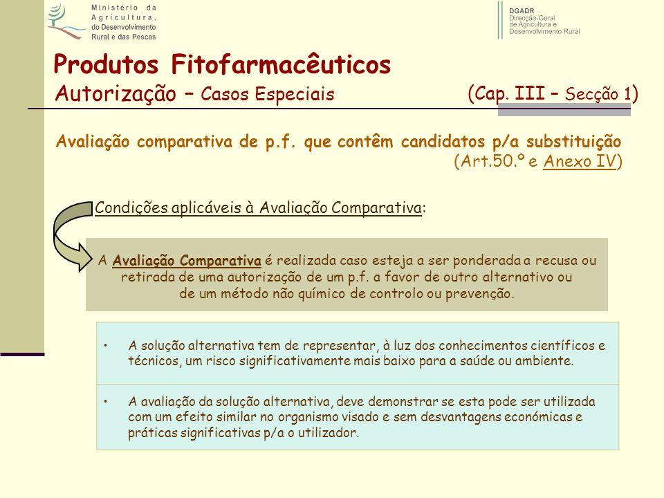 Condições aplicáveis à Avaliação Comparativa:
