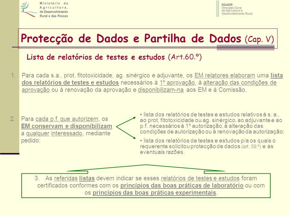 Protecção de Dados e Partilha de Dados (Cap. V)