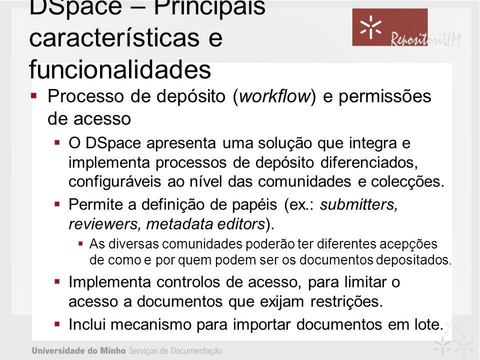 DSpace – Principais características e funcionalidades