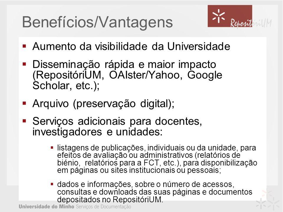 Benefícios/Vantagens