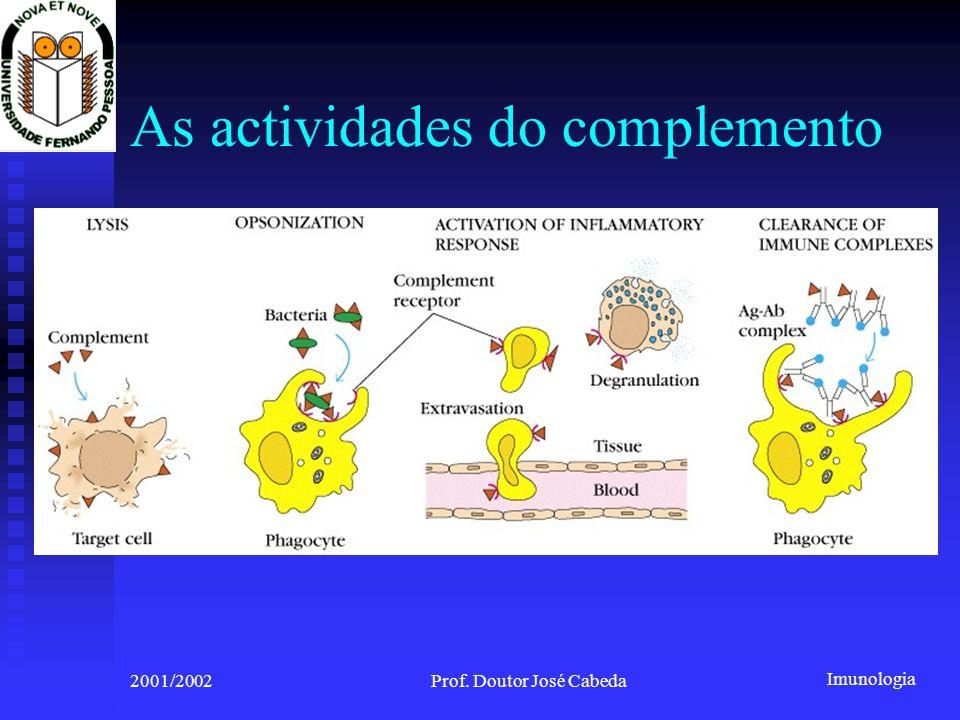 As actividades do complemento
