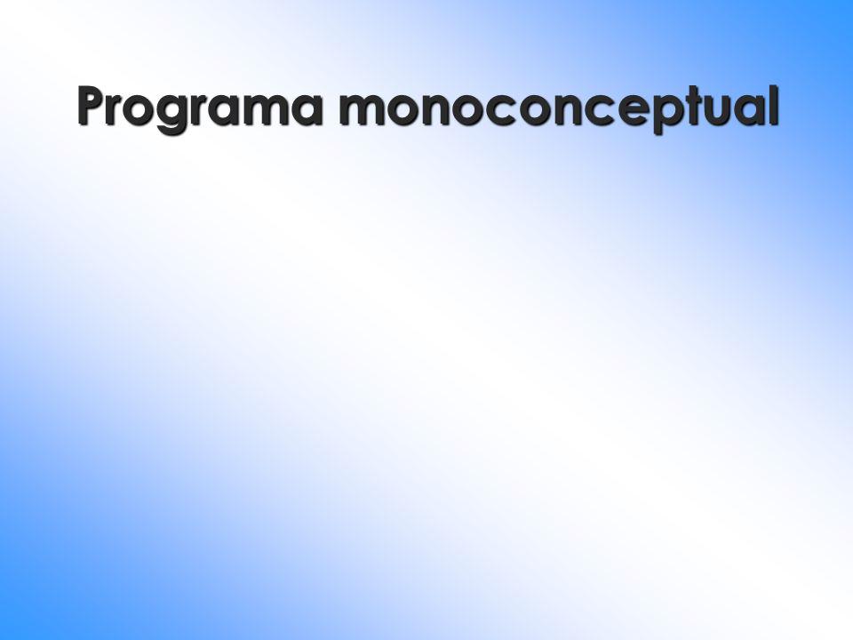 Programa monoconceptual