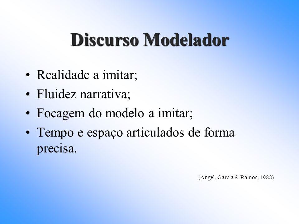 Discurso Modelador Realidade a imitar; Fluidez narrativa;