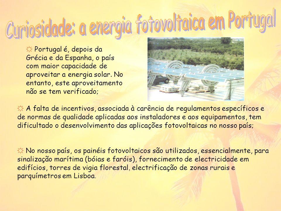 Curiosidade: a energia fotovoltaica em Portugal