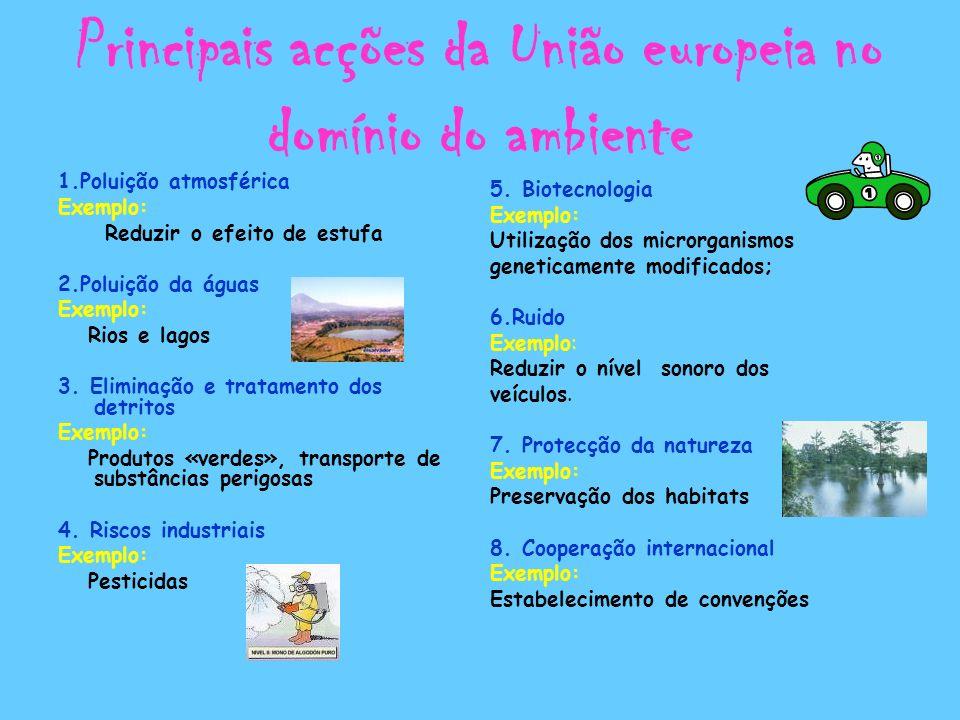 Principais acções da União europeia no domínio do ambiente
