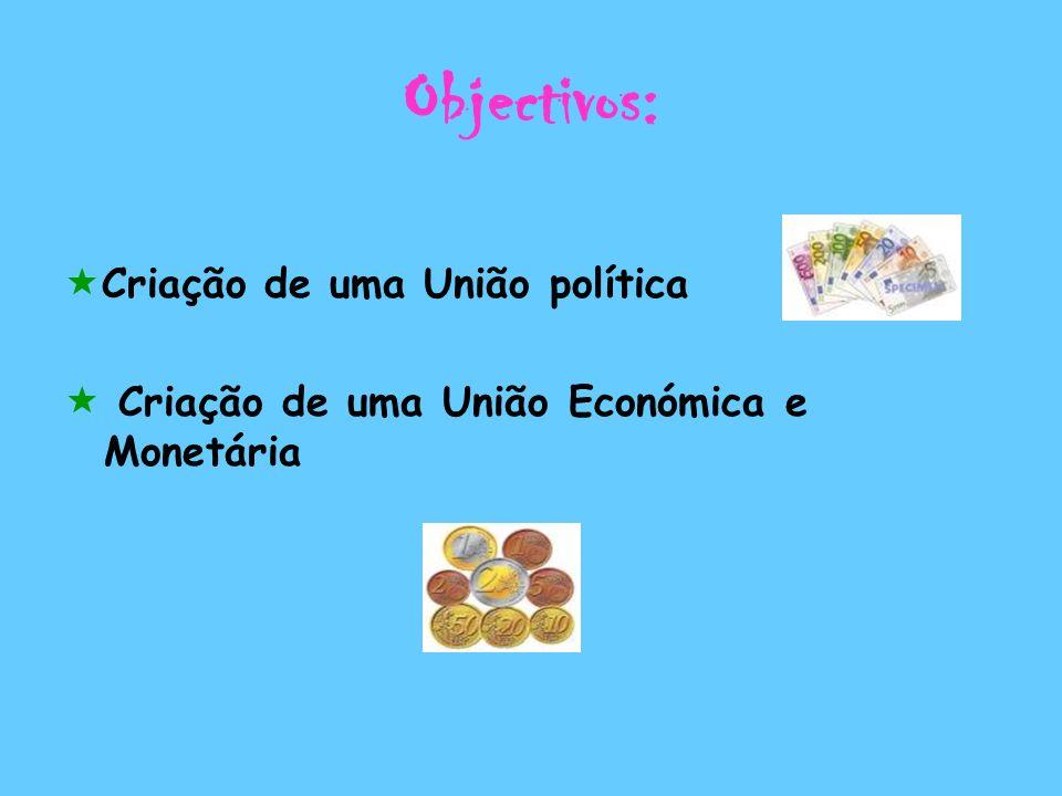 Objectivos: Criação de uma União política
