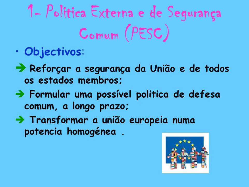 1- Politica Externa e de Segurança Comum (PESC)