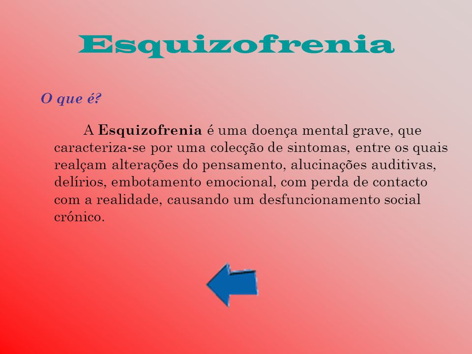Esquizofrenia O que é