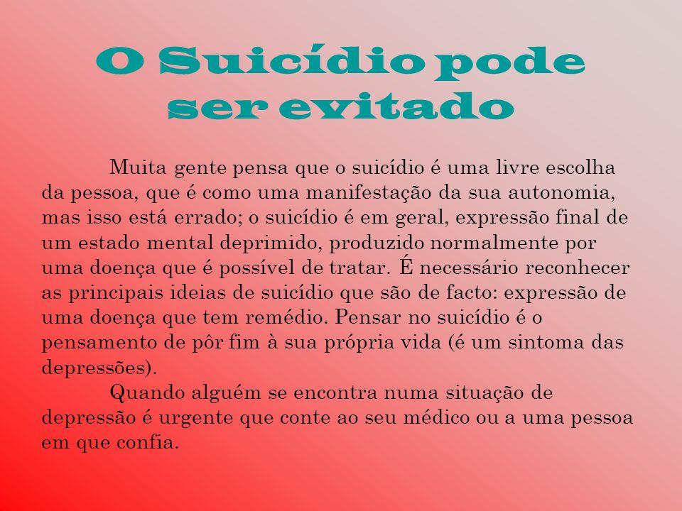 O Suicídio pode ser evitado