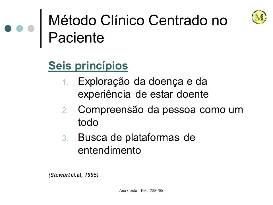 Método Clínico Centrado no Paciente