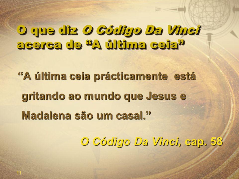 O que diz O Código Da Vinci acerca de A última ceia