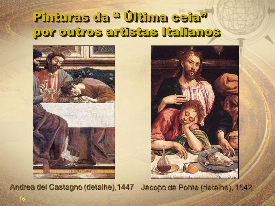 Pinturas da Última ceia por outros artistas Italianos