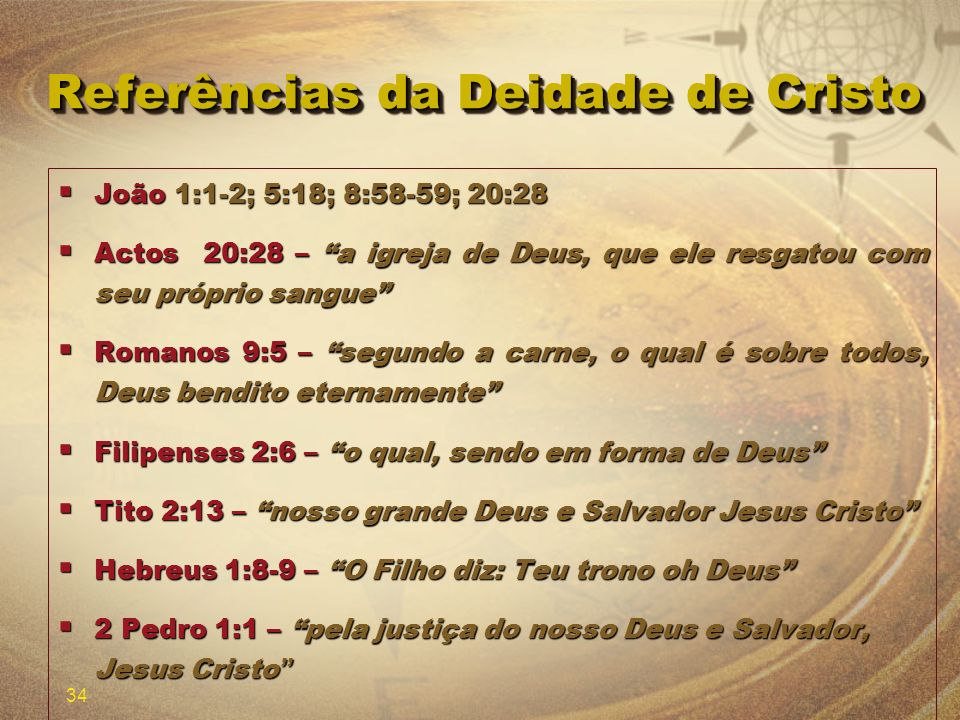 Referências da Deidade de Cristo