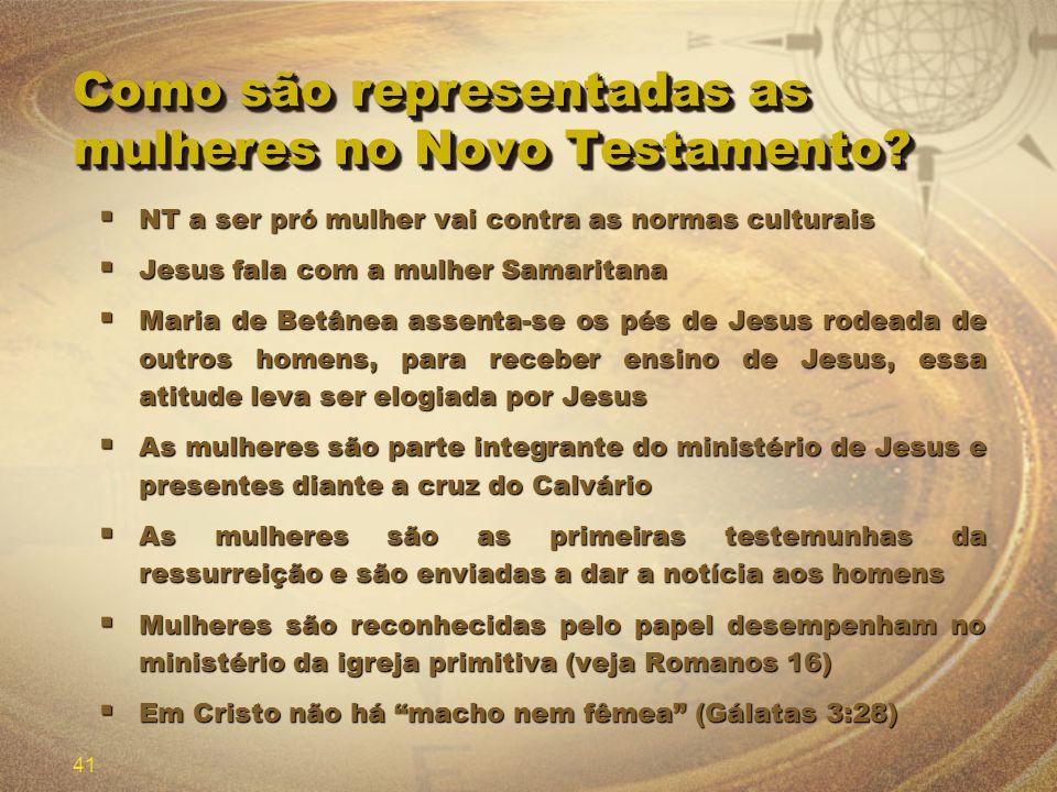 Como são representadas as mulheres no Novo Testamento