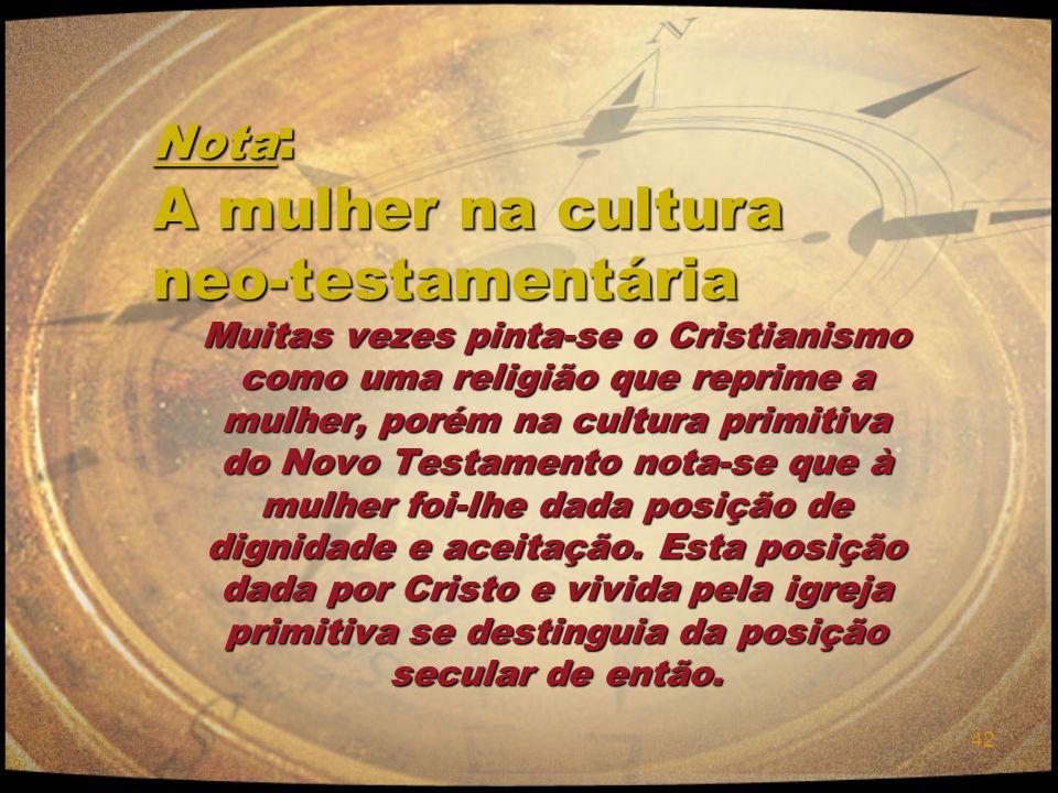 Nota: A mulher na cultura neo-testamentária