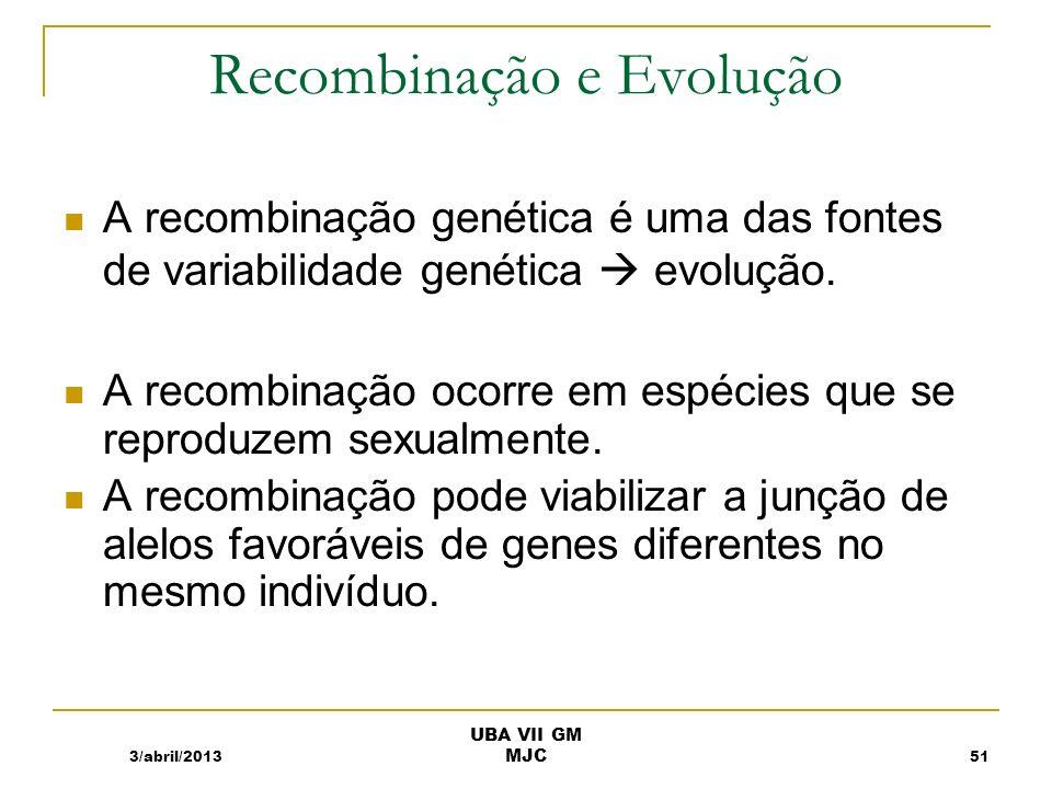 Recombinação e Evolução