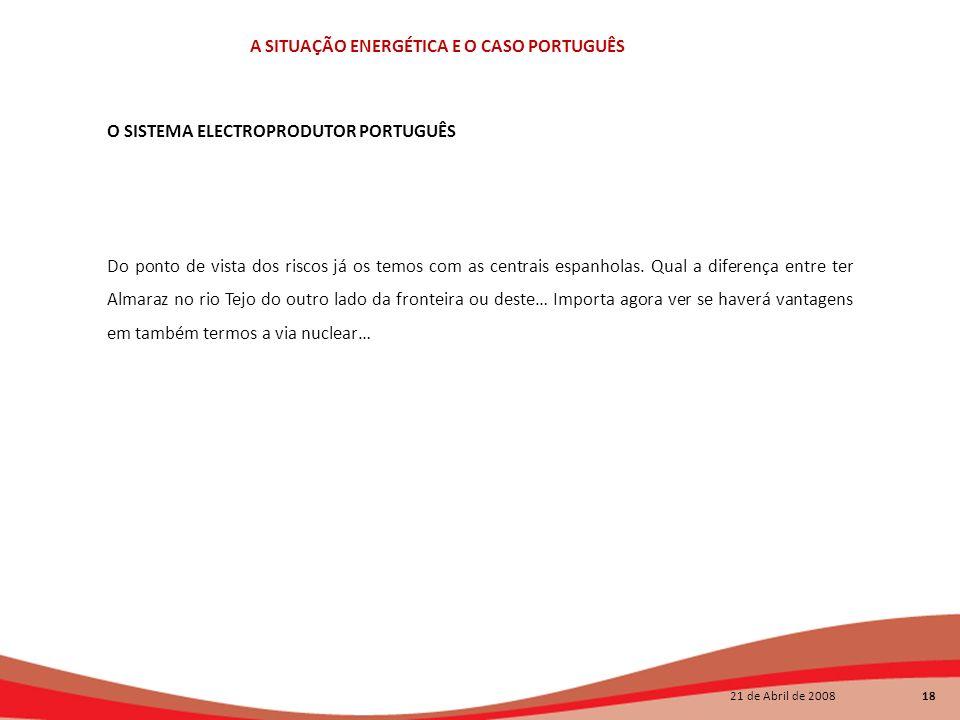 O SISTEMA ELECTROPRODUTOR PORTUGUÊS