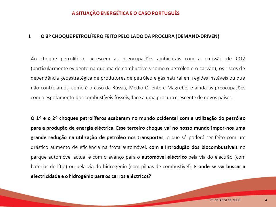 O 3º CHOQUE PETROLÍFERO FEITO PELO LADO DA PROCURA (DEMAND-DRIVEN)