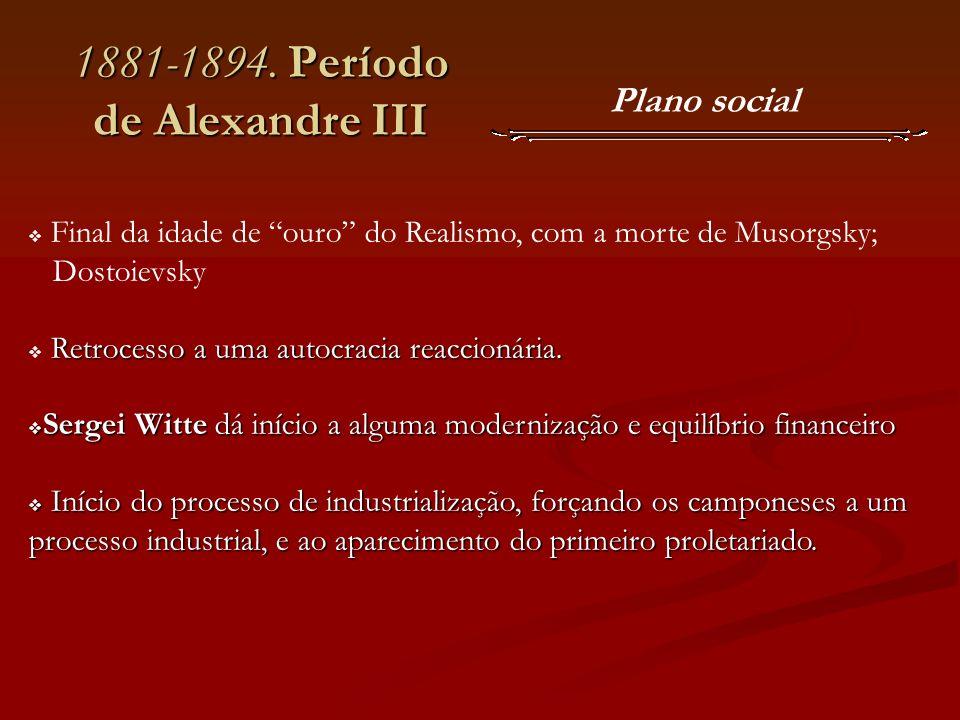 1881-1894. Período de Alexandre III