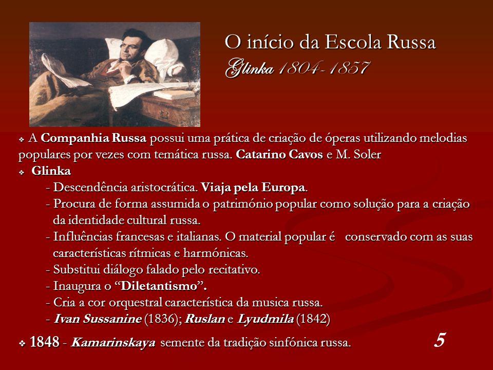 O início da Escola Russa Glinka 1804-1857
