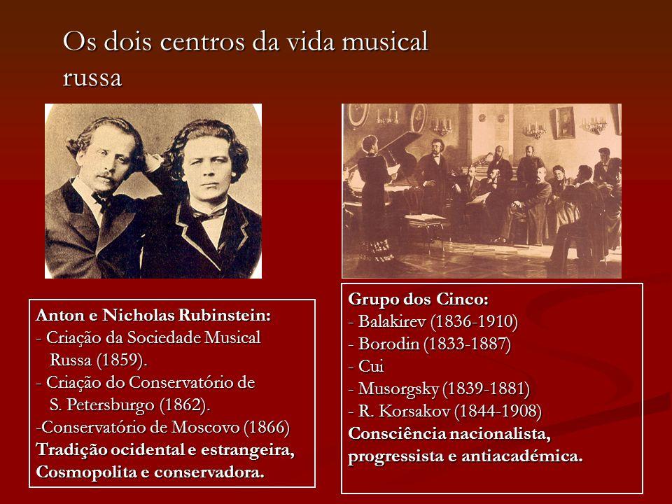 Os dois centros da vida musical russa