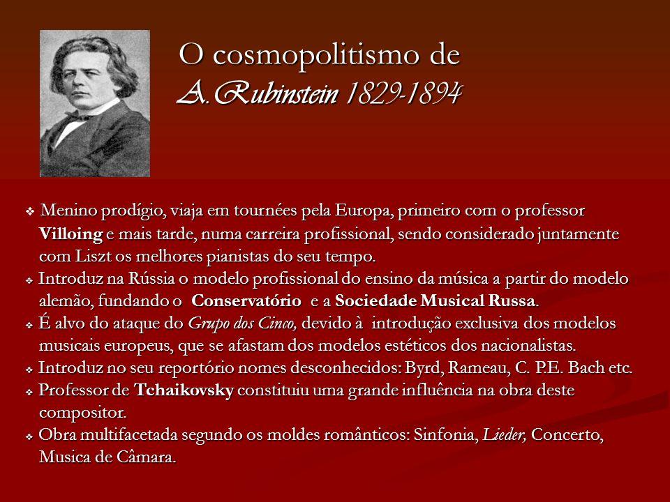 O cosmopolitismo de A.Rubinstein 1829-1894