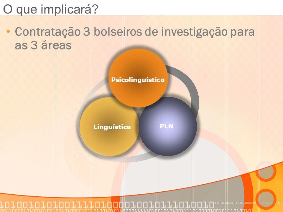 Contratação 3 bolseiros de investigação para as 3 áreas
