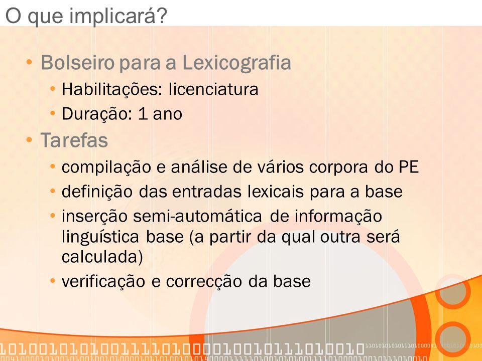 Bolseiro para a Lexicografia