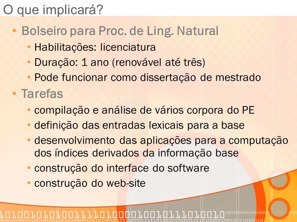 Bolseiro para Proc. de Ling. Natural